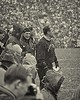 Coach Ara Parseghian on the sidelines, Notre Dame-Navy game, South Bend, Ind., Nov. 4, 1967