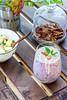 Breakfast set with berries lassi