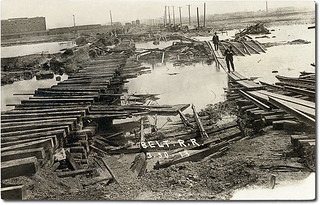 Belt Railroad damage after 1913 flood, Indianapolis, Indiana