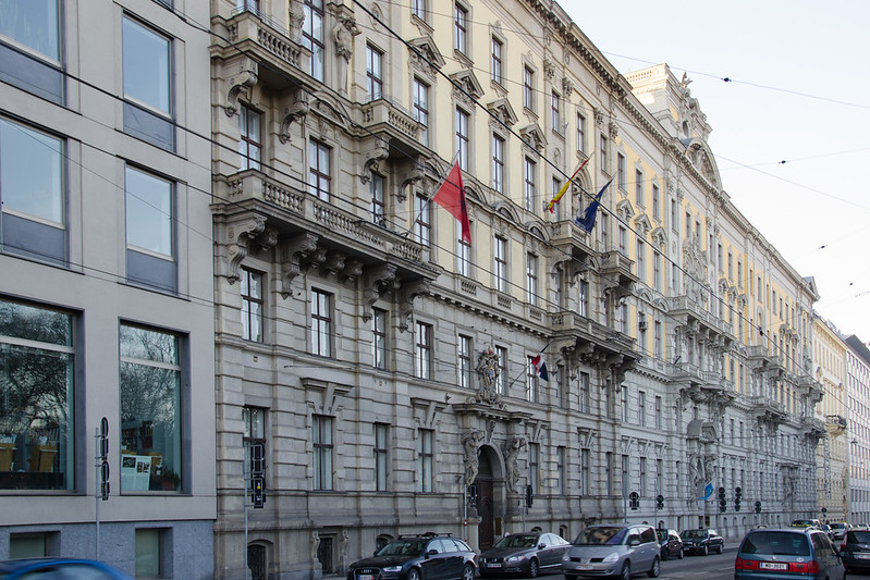 Embassies on Prinz Eugen Straße