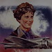 Small photo of Amelia Earhart painting