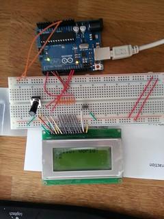 Arduino + 16x4 LCD