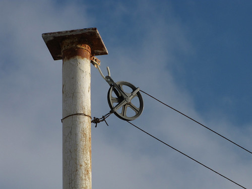 sky post clothesline pulley