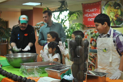 Aquiles Chavez cooking with Boyle Heights Youth