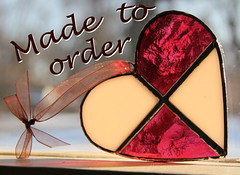 The basic stained glass heart: $20