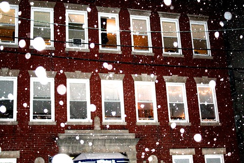 boston allston snow storm red house