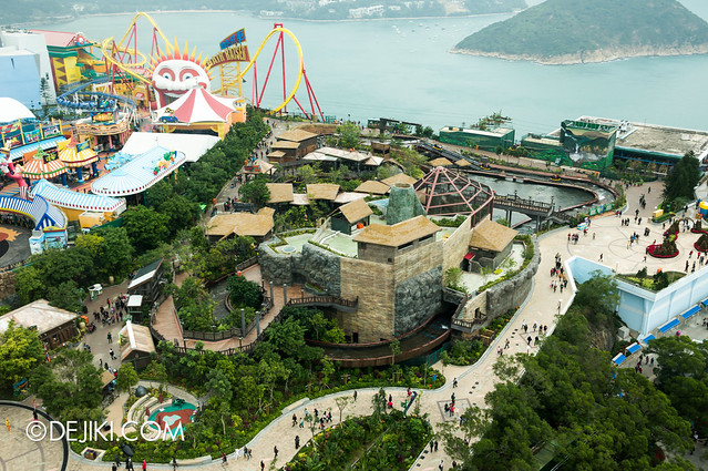 Ocean Park Tower Views: Thrill Mountain and Rainforest