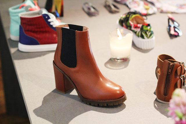 brown heeled chelsea boots Urban Outfitters SS13 press day