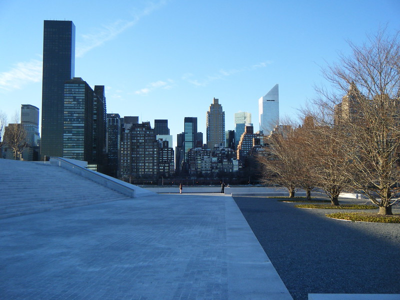 Monumental stairs in Four Freedoms Park