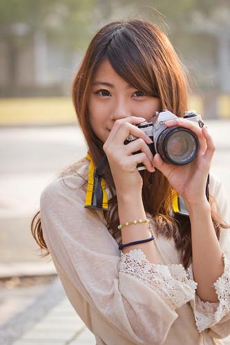 [フリー画像素材] 人物, 女性 - アジア, 台湾人, カメラ ID:201302010800