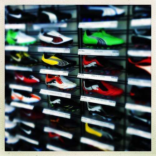 The brighter the color the faster you'll go. #shoes #soccer