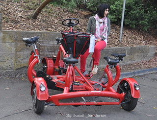 I Have One Pair Of Legs....Need Five More To Power The Pedal Powered Cycle Around the Park.....Come On Join Me !!! !