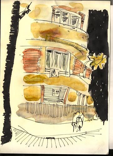 a la vuelta de la esquina por la noche, Madrid