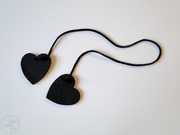 Wood Heart Napkin Ring - TWO