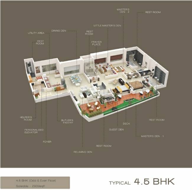 4.5 BHK - 2939 Saleable - Flat at Emirus,  Sr. no. 107, Baner Road, Near D' Mart, Baner, Pune- 411 045, Maharashtra, India.