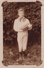 Little André holding his prize (undated)