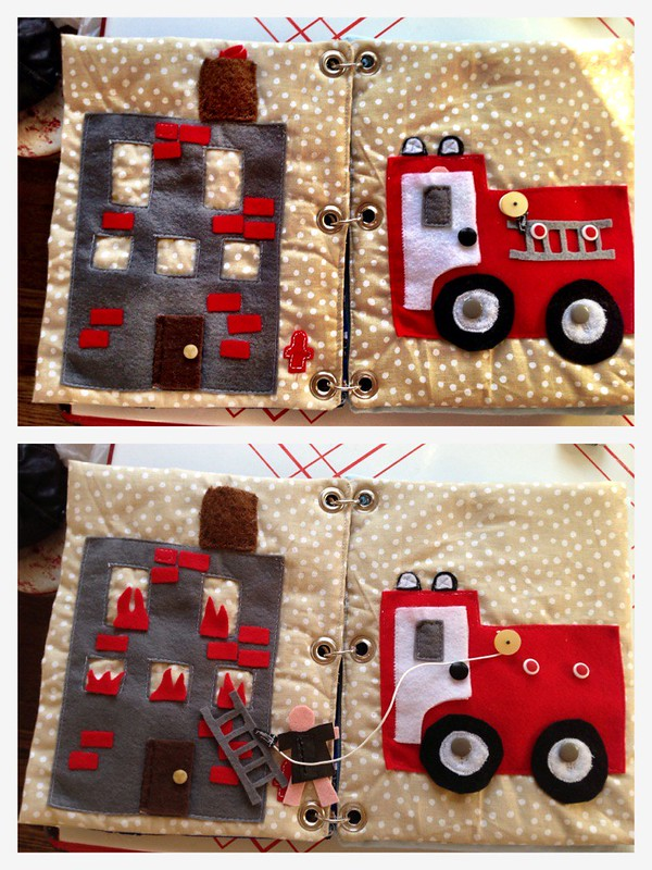 quiet book diy fire truck