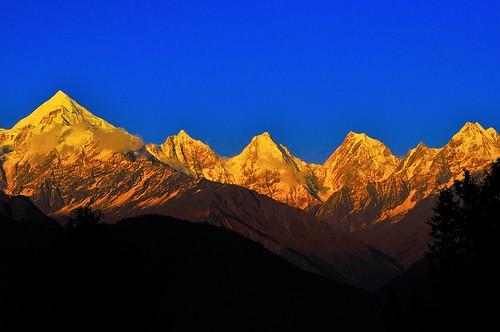 sunset clear siddhartha d90 kumaon uttarakhand munsiyari panchchuli 70300vr himalayarange