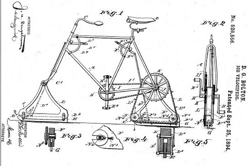 Ice Velocipede Patent 1894
