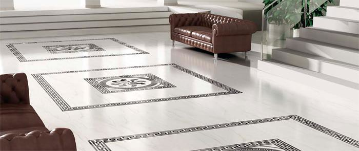 Marble Floor Inserts : Living space design