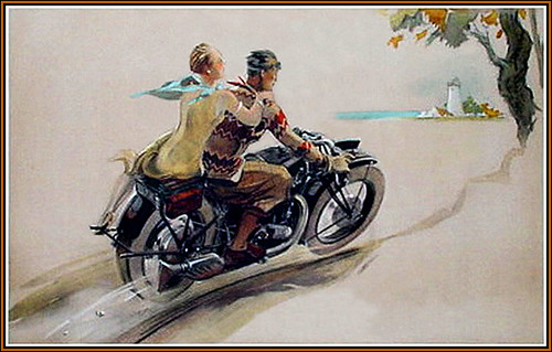 1930's Motorcycle illustration by bullittmcqueen