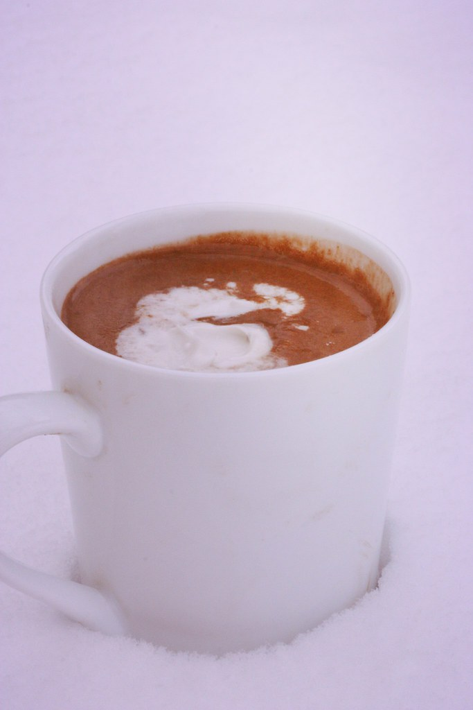 vegan hot chocolate with coconut whipped cream: rooted vegan