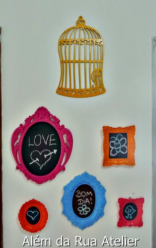 Como pintar moldura provençal e fazer lousa