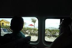Nassau sightseeing from the van window