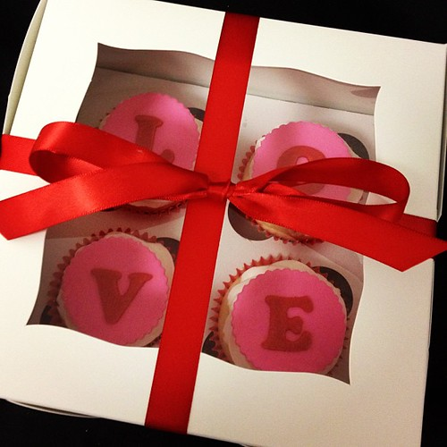 Gift box of LOVE cupcakes going out the door today - there's still time to place your orders for pickup on Valentine's Day #cupcakes #valentinesday2013