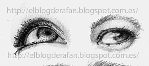 ojos de mujer a lápiz