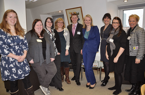 Elizabeth Truss with Tots100 parent bloggers