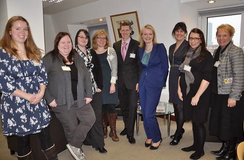 Elizabeth Truss with Tots100 parent bloggers