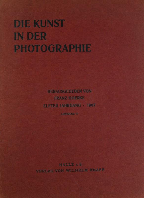 Portada del libro Die Kunst in der Photographie (1907)