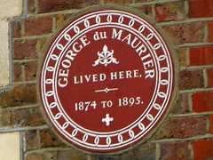 Photo of George Du Maurier brown plaque