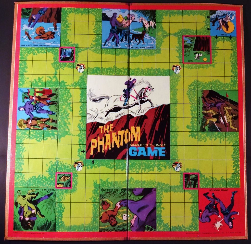 The Phantom Ruler of the Jungle board game Transogram 1966