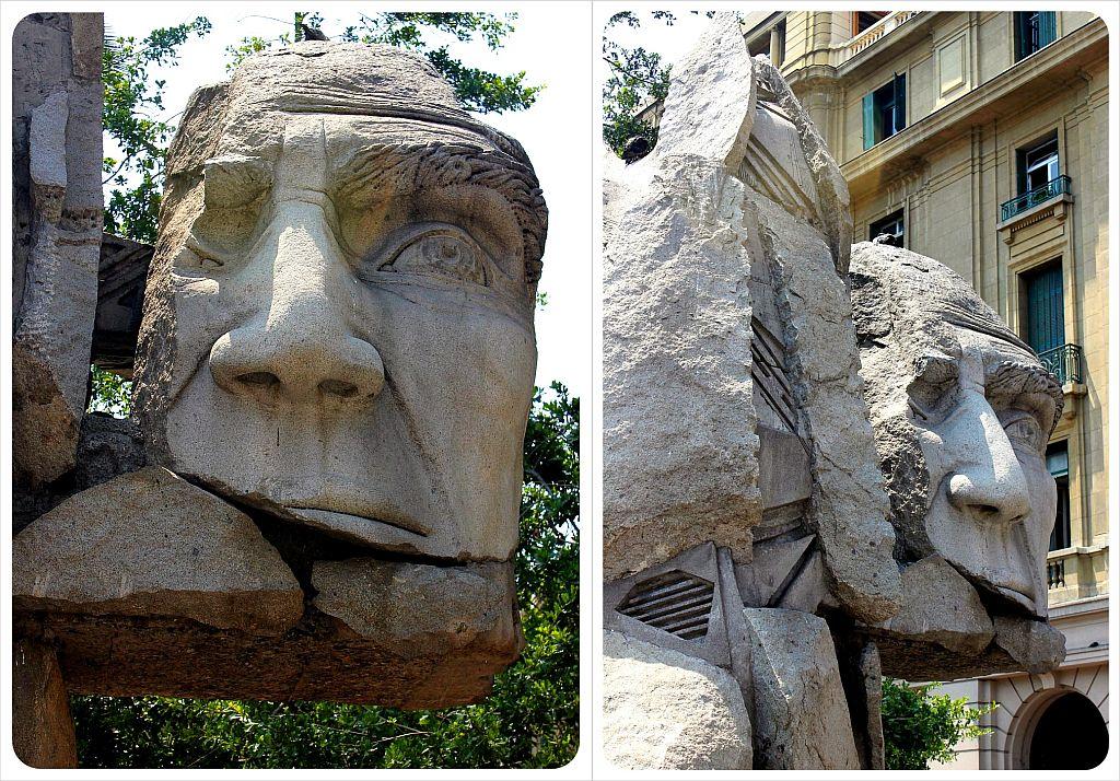 Santiago plaza de armas sculpture