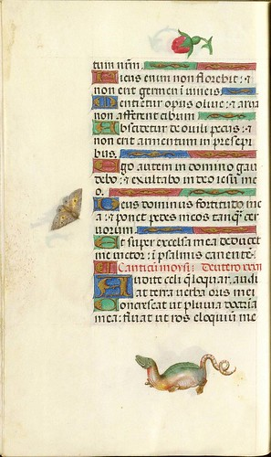 024-Pagina con ornamentos-253 verso-GKS 1605 4 º Salterio - 1500-1535- The Royal Library