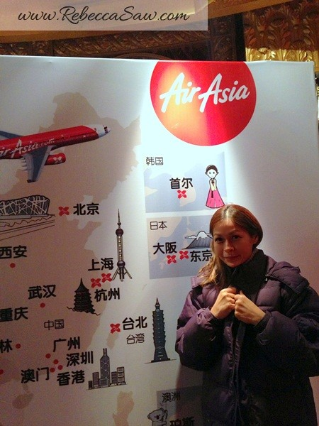 On Air Asia X first flight to Shanghai!
