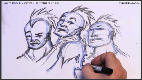 learn how to draw characters in different positions 023