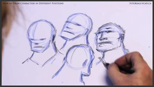 learn how to draw characters in different positions 013