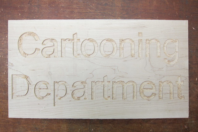 Cartooning department