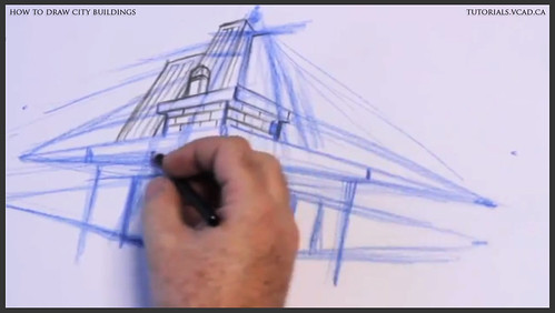 learn how to draw city buildings 014