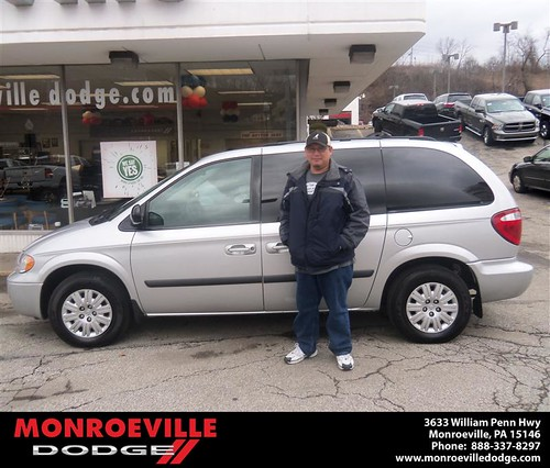 Congratulations to Mark Lieu on the 2006 Chrysler Town and Country by Monroeville Dodge