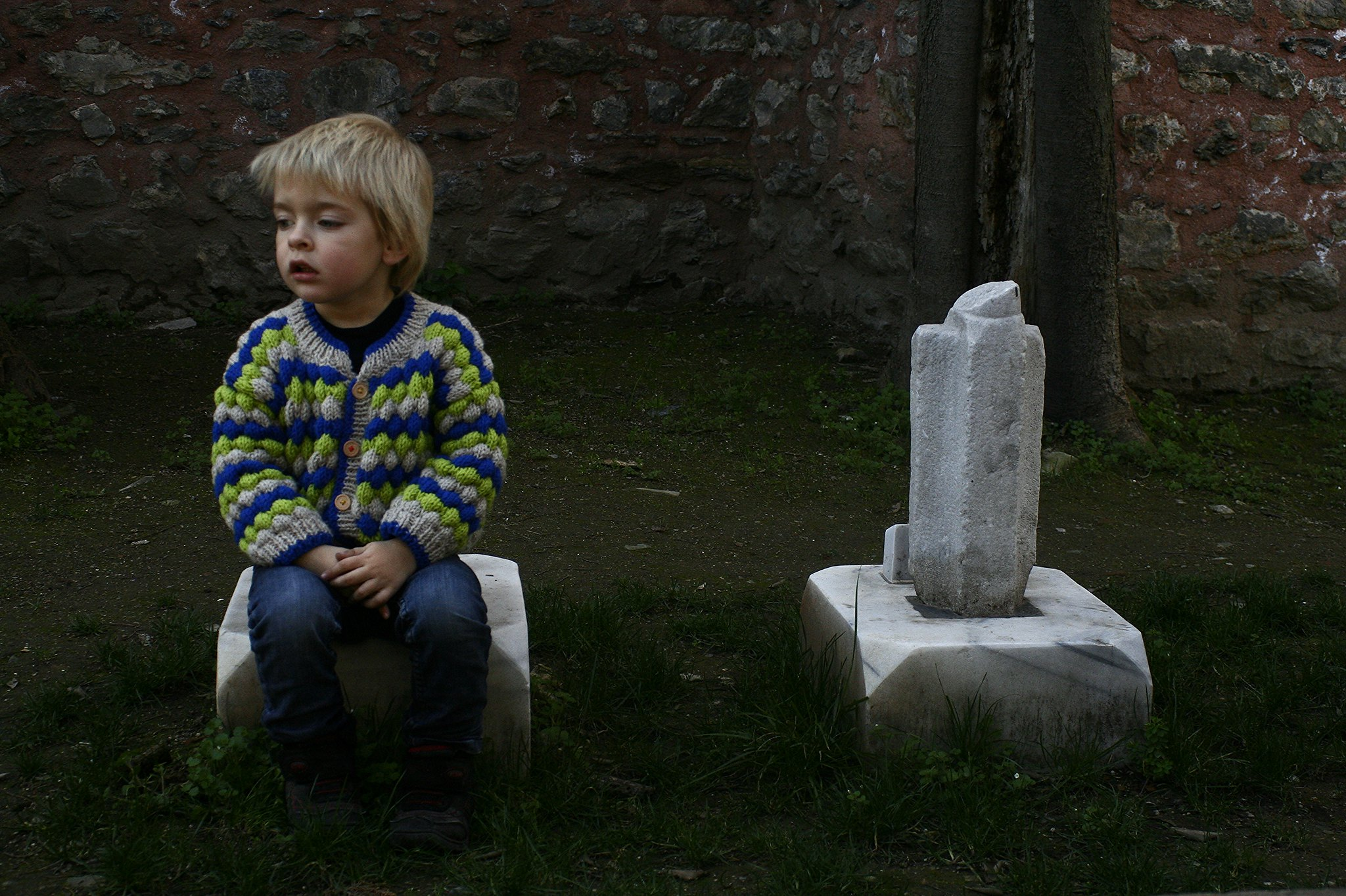 Small graves, excellent knitwear.