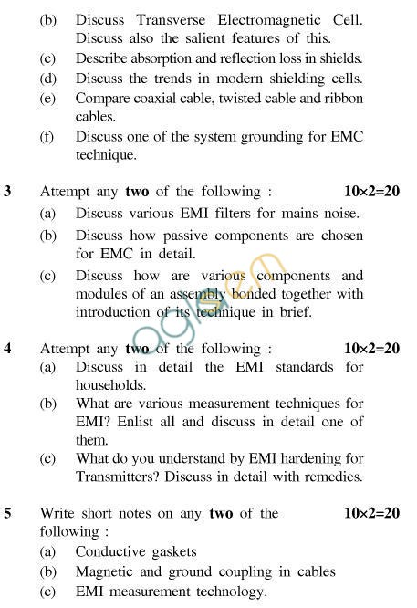 UPTU B.Tech Question Papers -EC-022-Electromagnetic Interference& Electromagnetic Compatibility