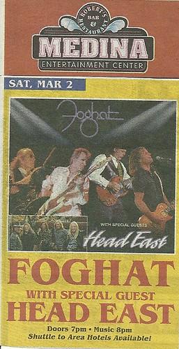 03/02/13 Foghat/ Head East @ Medina Entertainment Center, Medina, MN