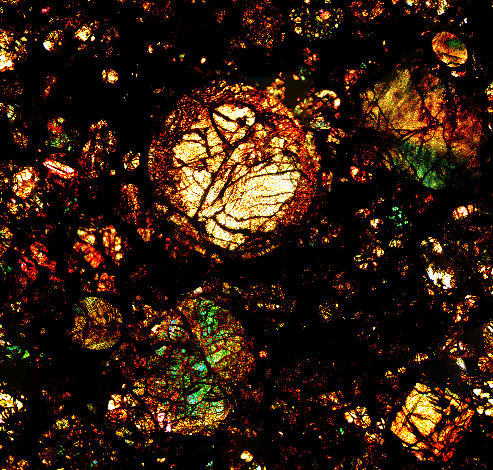 Microscopic views of meteorites