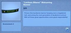 Limitare Bibens Welcoming Banner