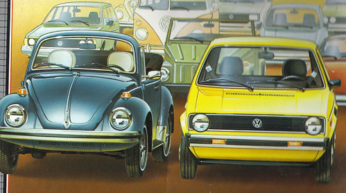 1979 Volkswagen Super Beetle Convertible and The Rabbit Sedan