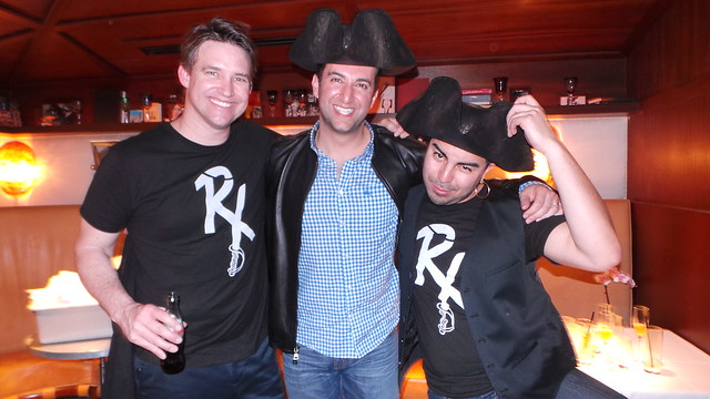 Rob Floyd, Sam Nazarian and pirate bartender by Caroline on Crack